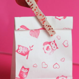 Washi Tape Valentine's Treat Bags LIVE Video