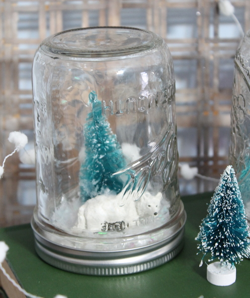 Waterless Snow Globes Kids Craft