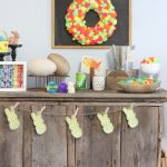 Neon Themed Easter Mantel from The Country Chic Cottage