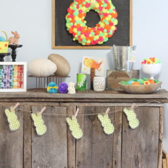 Interior Designed:  Neon Easter Mantel Decor