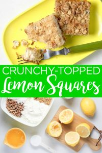 Make these mouth-watering crunchy lemon squares for dessert tonight! These sweet lemon bars will be the hit of any party or spring celebration! #lemon #dessert #recipe #yum #lemonsquares #lemonbars #dessertrecipe