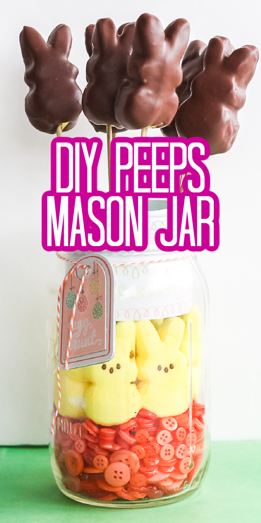 diy peeps mason jar