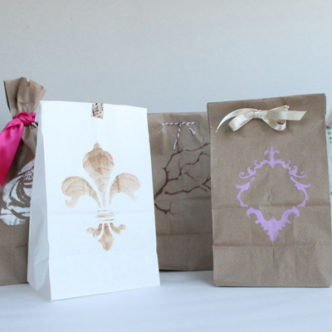 Quick and Easy Favor Bags for Weddings or Parties