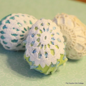 Doily Easter Eggs Video Tutorial