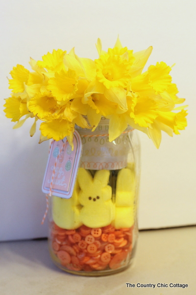 Peeps Mason Jar Centerpiece Live Video Tutorial The