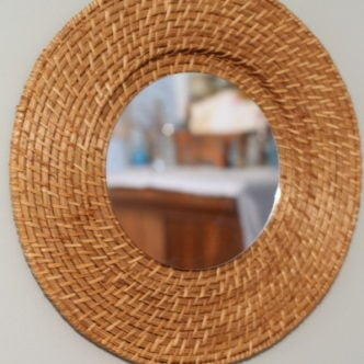 Quick and Easy Woven Mirror Knock Off in 15 Minutes or Less