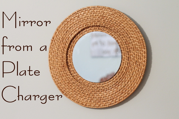 Woven Mirror Knock Off from a $1 Plate Charger at The Country Chic Cottage