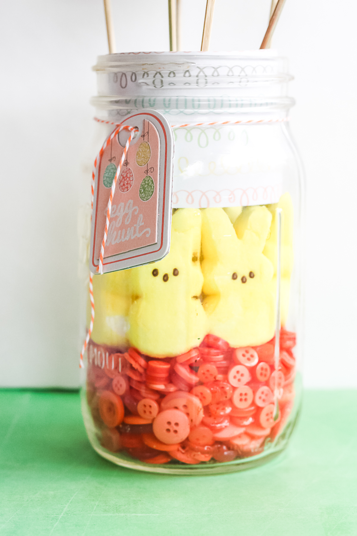 how to make a peeps mason jar in minutes
