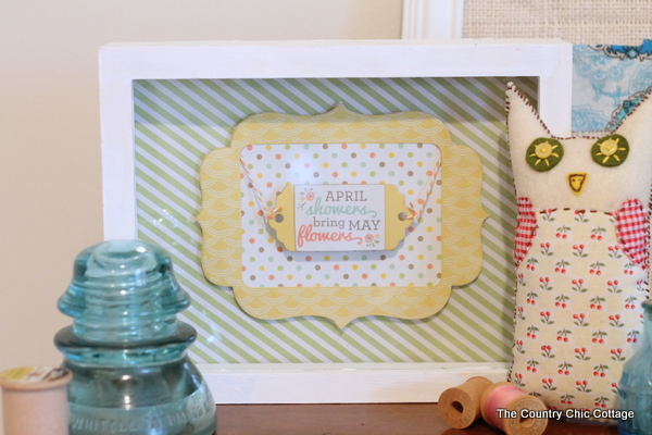 Spring Art Sign with We R Memory Keepers