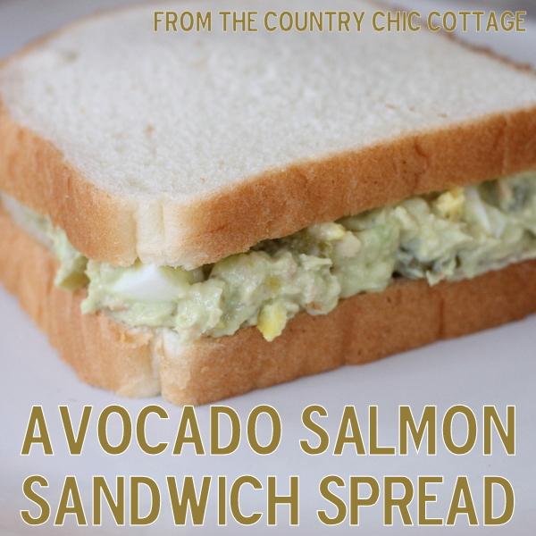 Avocado Salmon Sandwich Spread -- a low fat alternative to tuna salad!