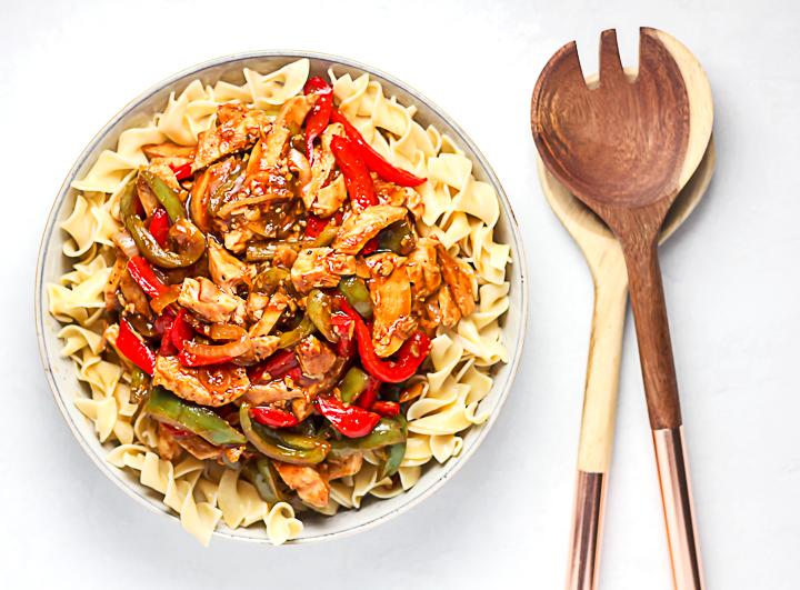 stir fry recipe over noodles