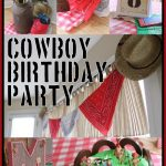cowboy birthday party final collage