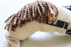 mane on a sock horse head