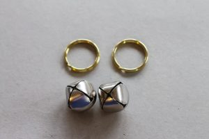 adding jingle bells to a key ring