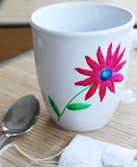 This easy handpainted mug is perfect for Mother's Day or any holiday where you need a DIY gift idea!