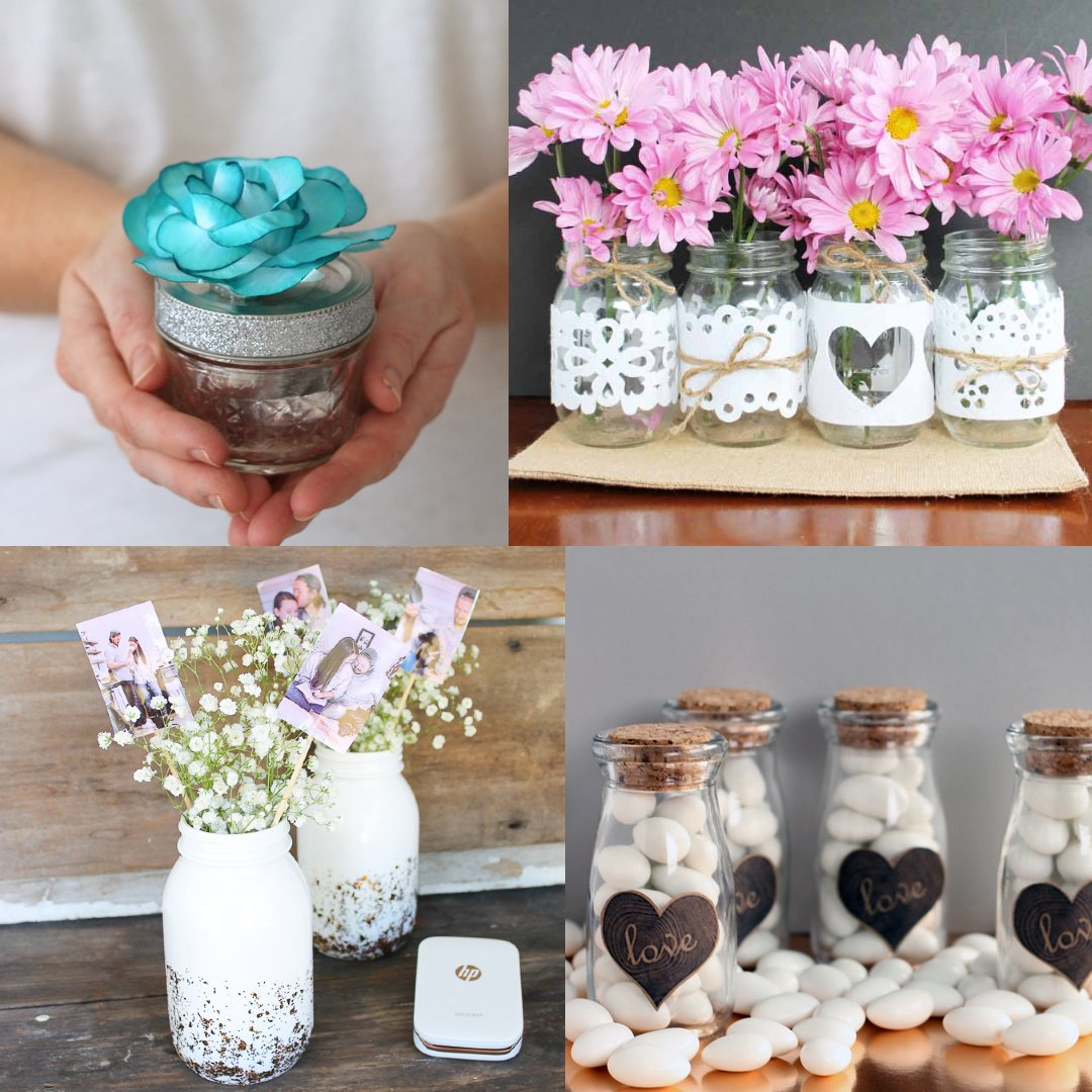Mason Jar Ideas For Wedding