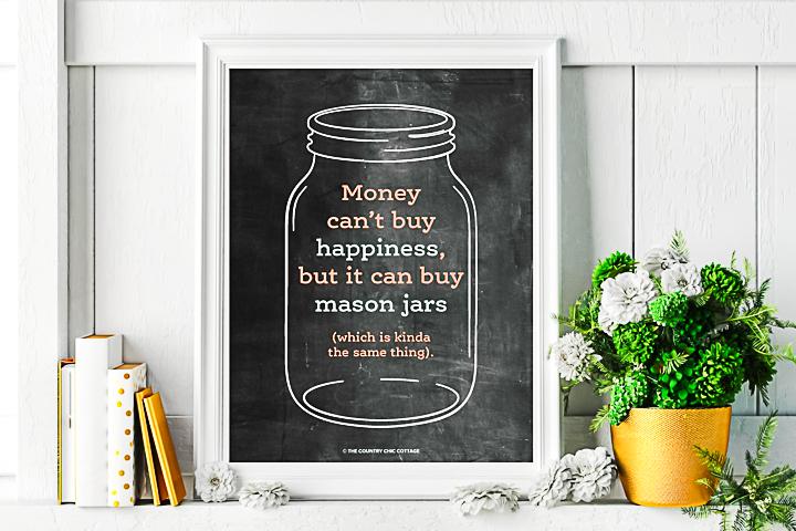 chalkboard mason jar art