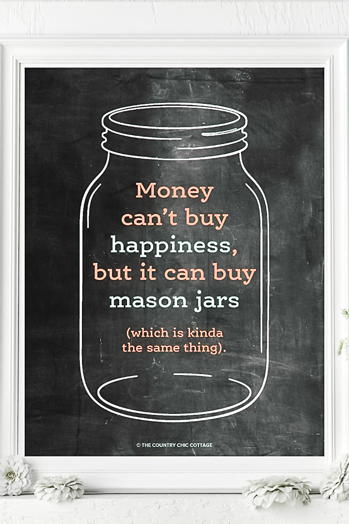 free mason jar art for your home