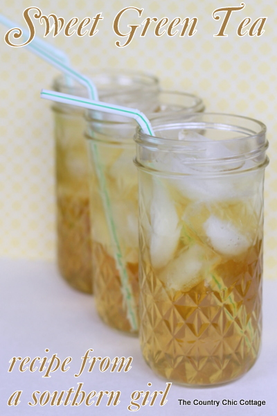 Great sweet green tea recipe from a southern girl -- she says her entire family loves to drink it!