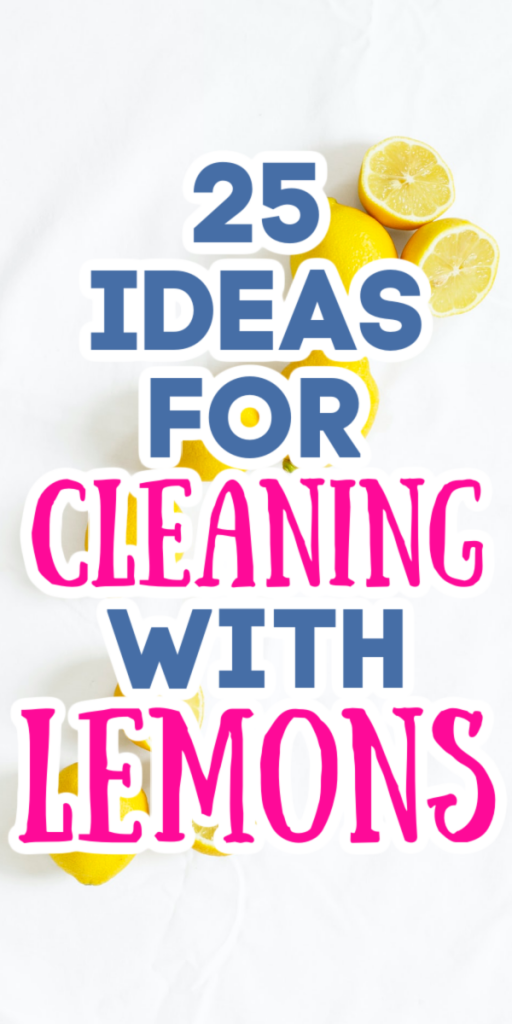 using lemons to clean