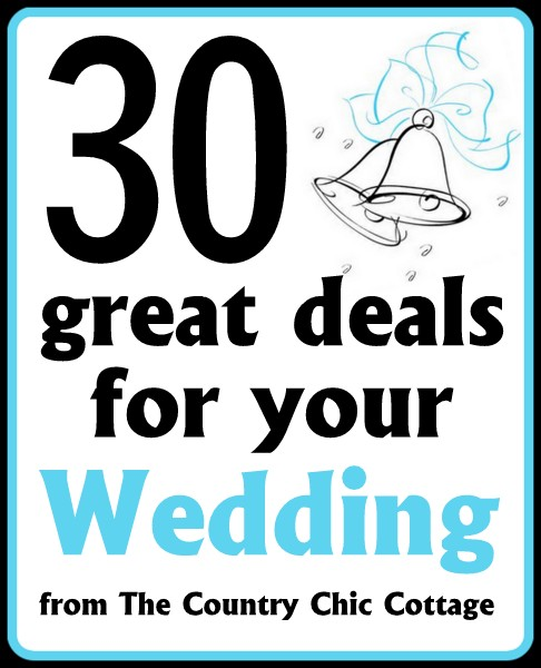 Great Wedding Ideas On A Budget: 30 Great Deals For Your Budget Wedding