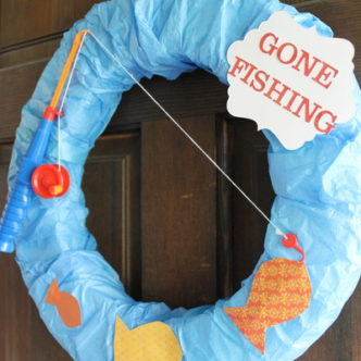 Gone Fishing Summer Wreath Video Tutorial
