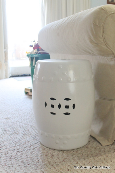 Painted Garden Stool Ballard Knock Off   Craft Lightning Day 1   The  Country Chic Cottage