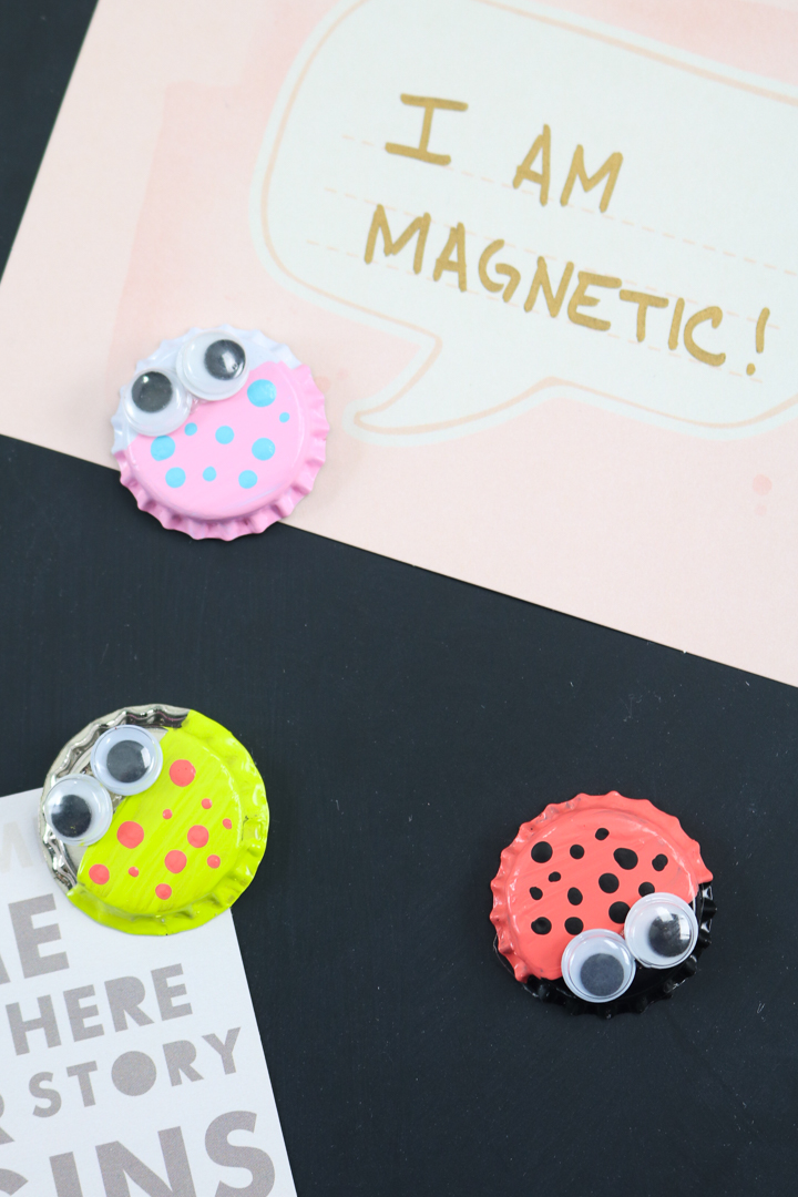 bottle cap magnets that look like bugs