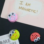 Bottle Cap Magnets to Make with Kids