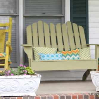 Interior Designed:  My Colorful Front Porch with a Fountain @serenitydecor1 #ad