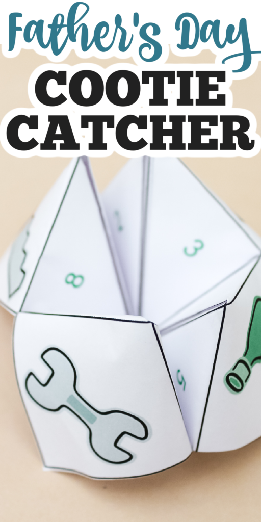 father's day cootie catcher free printable