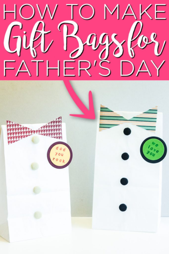 Make this DIY Father's Day gift bag in minutes with just a few supplies! Dad will love this extra special way to wrap his gift this year. #fathersday #giftidea #gift #dad