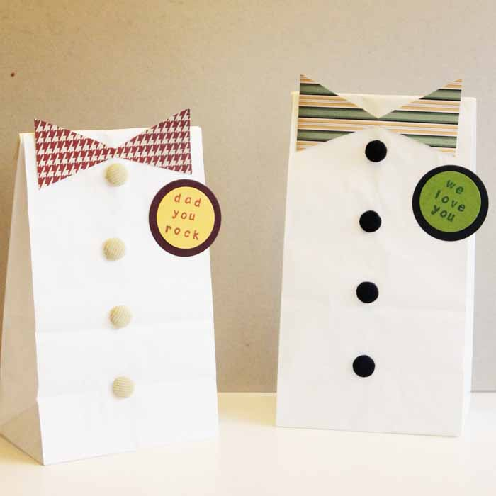 Make these Father's Day gift bags in minutes with these instructions! #fathersday
