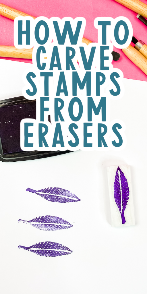 how to carve stamps from erasers