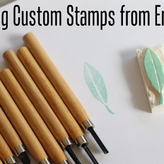 How to Carve Stamps from Erasers in 15 Minutes or Less
