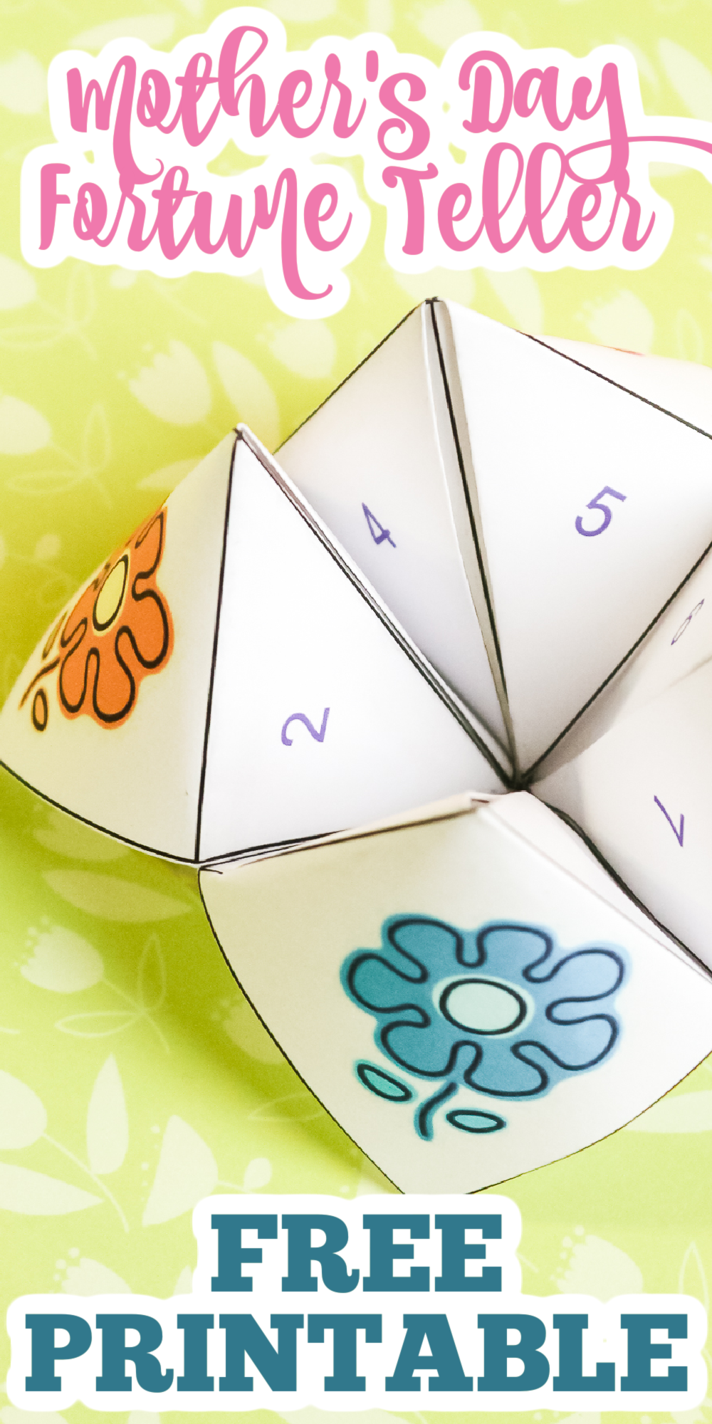 mothers day cootie catcher