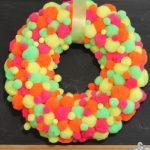 neon pompom wreath-007