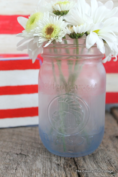 Patriotic Frosted Mason Jar In 15 Minutes Or Less The