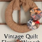 vintage quilt flower wreath (2)