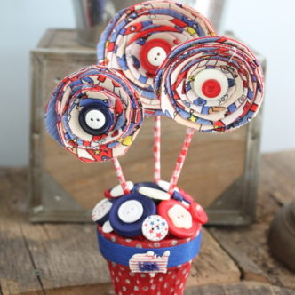 Americana Centerpiece plus a Patriotic Blog Hop