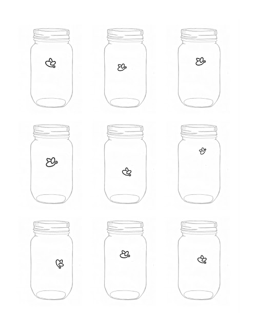 Mason Jar Firefly Free Printable Art The Country Chic Cottage
