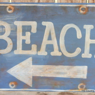 Beach Sign Knock Off and a Summer Decor Linky Party