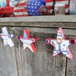 buttons and stars garland ccc-006
