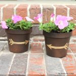 diy gold leaf metal flower pots-009