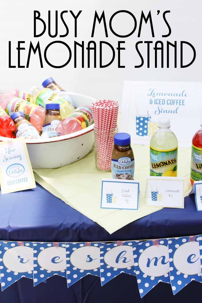 Lemonade stand ideas perfect for the busy mom!