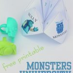 monsters university cootie catcher