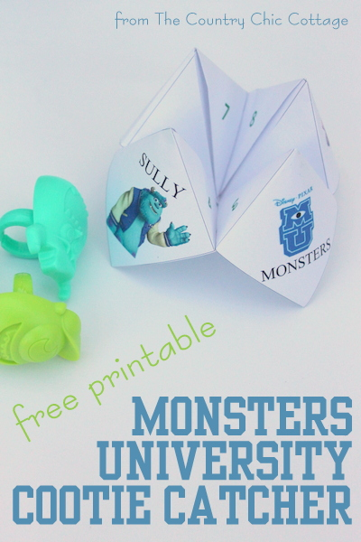 Monsters University Cootie Catcher Craft Nestle