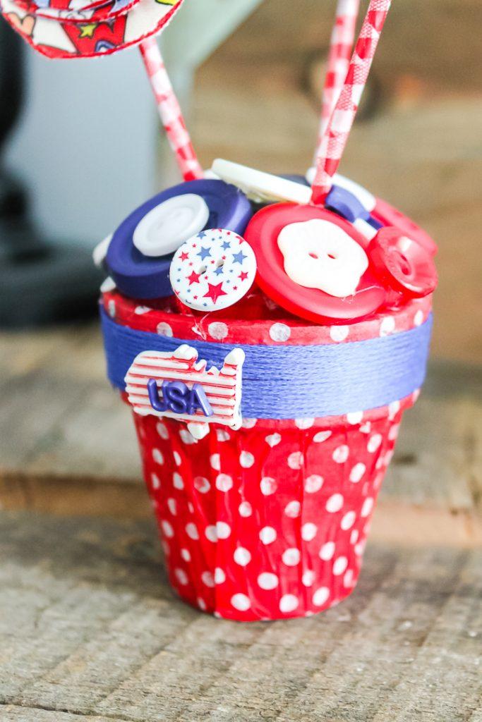 patriotic button craft