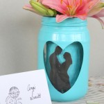 silhouette mason jar wedding centerpiece-006