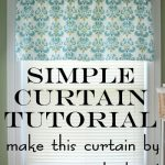 simple curtain sewing tutorial
